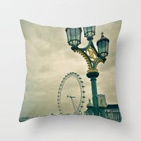 View of the London Eye Throw Pillow