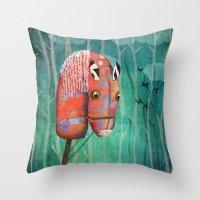 The Hobby Horse Throw Pillow