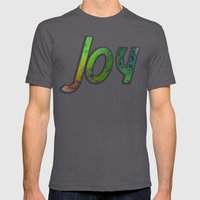 Joy to the world Mens Fitted Tee Asphalt SMALL