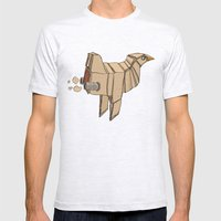 Space Chicken Mens Fitted Tee Ash Grey SMALL