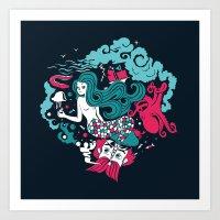 Rêve marin Art Print