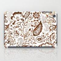 Folk Floral Brown iPad Case