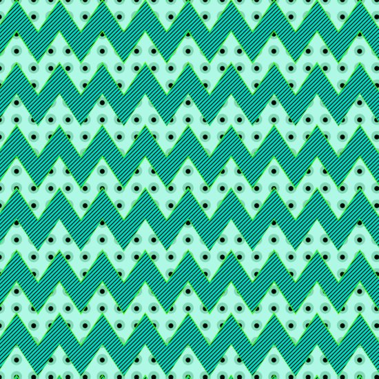 Chevron Mint Art Print