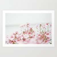 tiny pink flowers  Art Print
