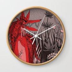 Woman Wolf 2 Wall Clock