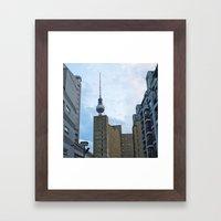 Fernsehturm Berlin - Back Framed Art Print