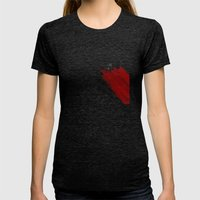 quote: find A beautiful place and get lost Womens Fitted Tee Tri-Black SMALL