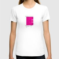 E (abstract Geometrical … Womens Fitted Tee White SMALL