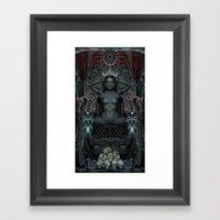 Triptych: Shakti - Black… Framed Art Print