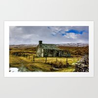 Derilict In The Yorks Da… Art Print
