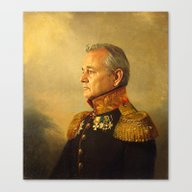 Canvas Print featuring Bill Murray - Replacefac… by Replaceface