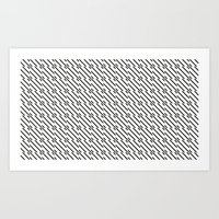 IJzerman Black & White Pattern Art Print