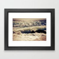 autumn sea Framed Art Print