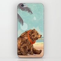 Beach Bear iPhone & iPod Skin