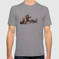 Important Wizarding Mens Fitted Tee Athletic Grey SMALL