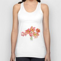 Parrot Tulips In A Glass… Unisex Tank Top
