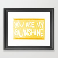 My Sunshine Love Framed Art Print
