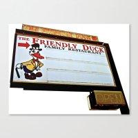 Friendly Duck Canvas Print