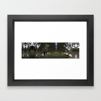 A walk in the park Framed Art Print