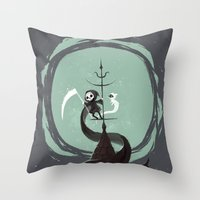 Night Hunt Throw Pillow