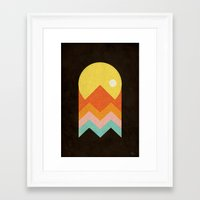 Framed Art Print featuring Amazeing Sunset by Phil Jones