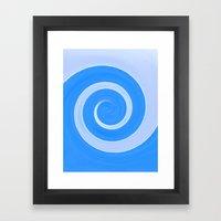 Winter Spiral Framed Art Print