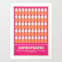 50 First Dates Movie Poster Art Print