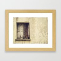 Wood window Framed Art Print