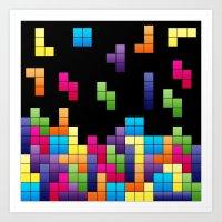 Tetris Troubles. Art Print