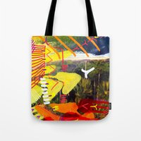 Wave yellow Tote Bag