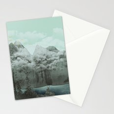 The Mountain Lake (Green) Stationery Cards