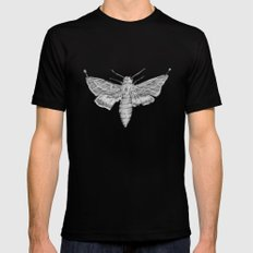 Moth Mens Fitted Tee SMALL Black