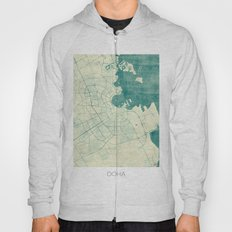 Doha Map Blue Vintage Hoody