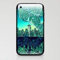 Seattle City Skyline iPhone & iPod Skin