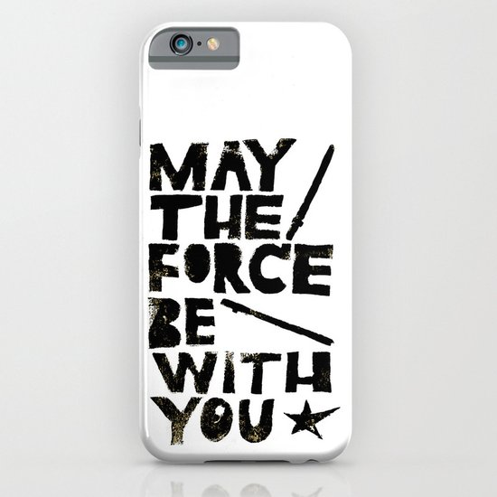 May the Force be with You - Linocut Star Wars Movie Poster iPhone & iPod Case