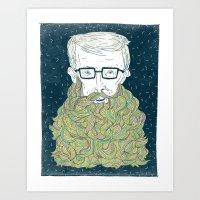 Hipster Beards Art Print