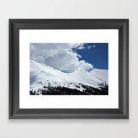 Clouds Over The Divide Framed Art Print