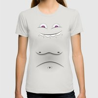 Faces V2 Womens Fitted Tee Silver SMALL