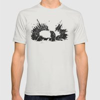 Whiteout Blackout Mens Fitted Tee Silver SMALL