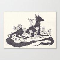Le Loup et les Sept Chevreaux Canvas Print