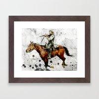 Western Outlaw Cullen Bo… Framed Art Print