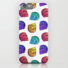 Rainbow Crystal Skulls Pattern Slim Case iPhone 6s
