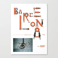 Bike To Life - Barcelona Canvas Print