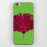 Peacock - Red iPhone & iPod Skin
