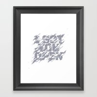 I Got You Open Framed Art Print