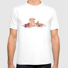 Cochon Mens Fitted Tee White SMALL