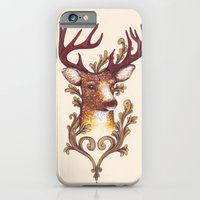 iPhone & iPod Case featuring Stag Illustration 1/6 by WesSide