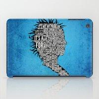 Typography Marla Singer iPad Case