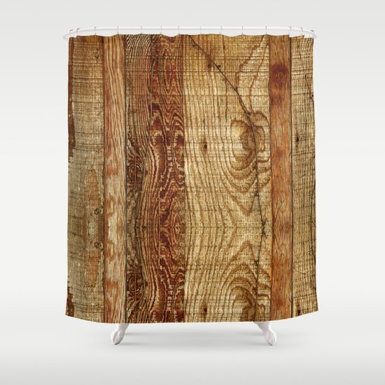 Wood Photography Shower Curtain