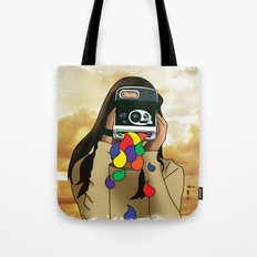 Polaroid Girl Tote Bag